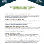 2016 AUTO ROAD EVENTS